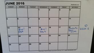 blank June calendar